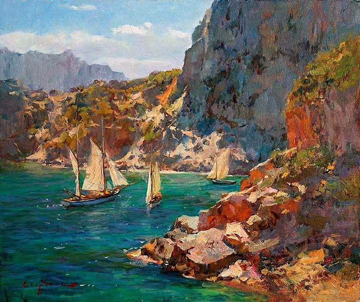 1134 best art and charm 2 images on pinterest for Paesaggi marini dipinti
