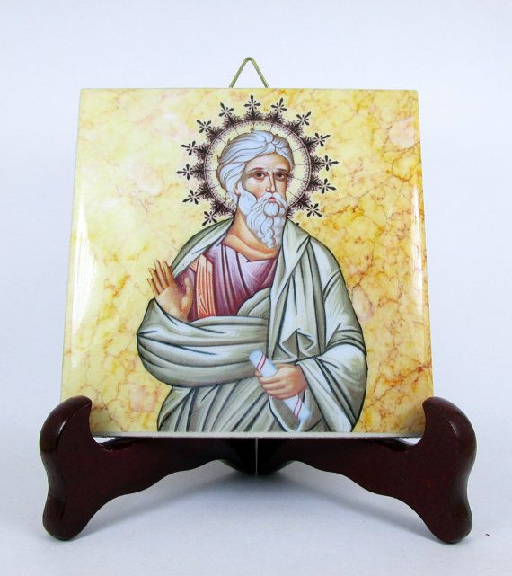 Saint Andrew The Apostle ceramic tile from Italy by TerryTiles2014