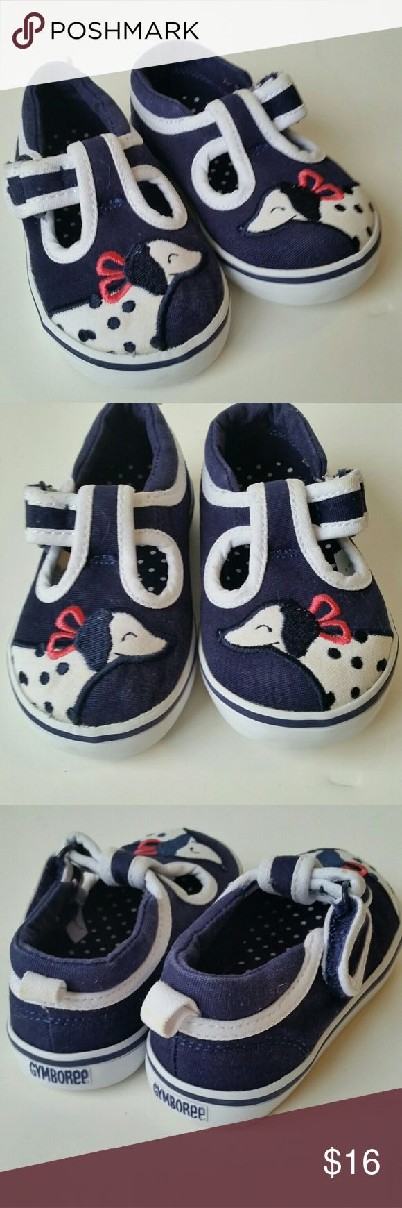 Gymboree Baby Dalmatian Shoes Simply adorable navy and white Mary Jane Shoes with Dalmatian dogs.  Excellent condition. Gymboree Shoes
