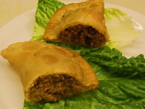 Pastelillos de Carne are meat filled pastries that are a popular in Puerto Rico.