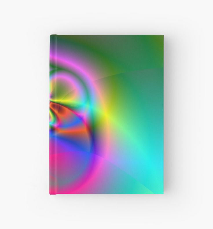 Illusion (FL24-002) Hardcover Journals by Terrella.  A bright and colourful fractal image which some see as flowers, others a fly or beetle and some see a ring. What do you see? • Also buy this artwork on stationery, apparel, phone cases, and more.