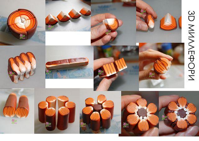 Orange Flower Cane Tutorial by Jewellery_Art, via Flickr