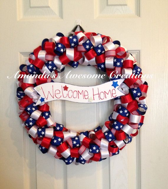 237 best for the army girlfriend images on pinterest for Patriotic welcome home decorations