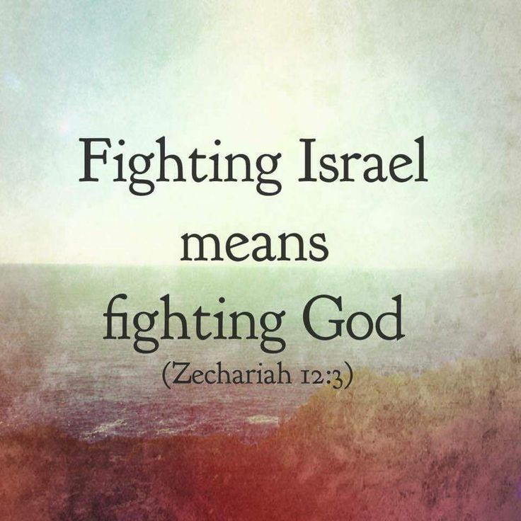 """Fighting Israel means fighting GOD! - """"Behold, I will make Jerusalem a cup of trembling unto all the people round about, when they shall be in the siege both against Judah and against Jerusalem. And in that day will I make Jerusalem a burdensome stone for all people: all that burden themselves with it shall be cut in pieces, though all the people of the earth be gathered together against it."""" ~  Zechariah 12:2-3 KJV"""