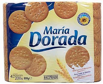 María Dorada Hacendado (Mercadona) - 5 unidades 3 puntos.