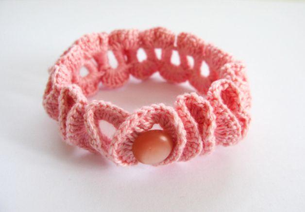Crochet bracelet.