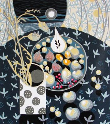 Jane Walker - Blue Fruit Like this kind of perspective in still life