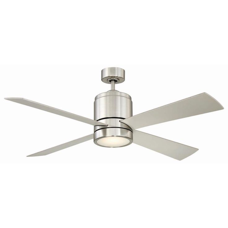 CANARM Axis 52 in. LED Indoor Brushed Nickel Ceiling Fan