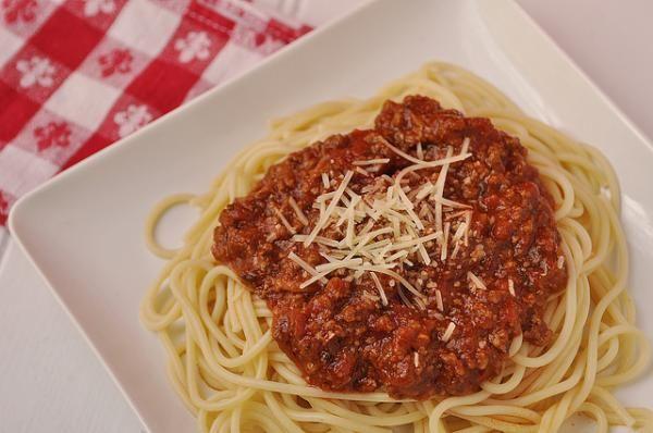 Receta de Espagueti con carne molida