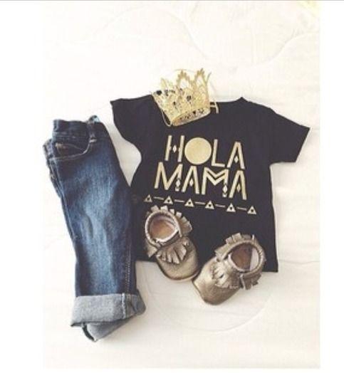 Grey Moccs: My Beautiful Little Shop | Hola Mama Tee: