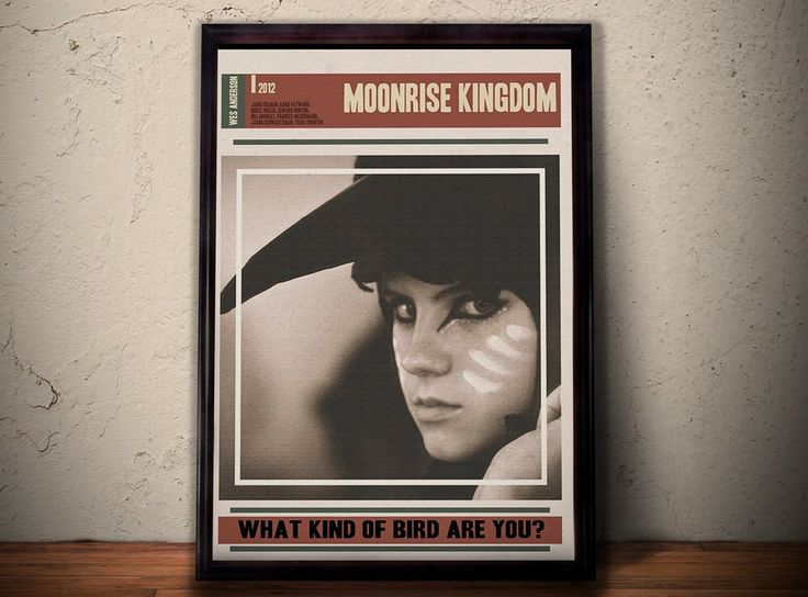 MOONRISE KINGDOM Alternative Movie Poster * What Kind Of Bird Are You Quote Print * Kara Hayward Quote A1 A2 A3 A4 Sizes Available by POTAPOTA on Etsy https://www.etsy.com/listing/248168046/moonrise-kingdom-alternative-movie