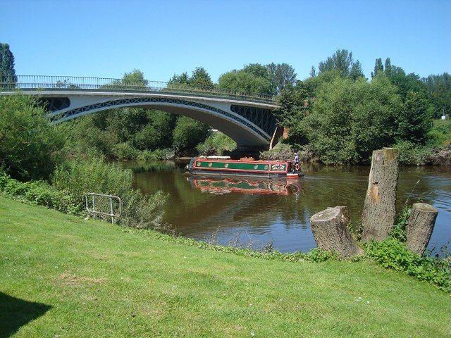 River Severn and Road Bridge at Holt Fleet by Rob Newman, via Geograph