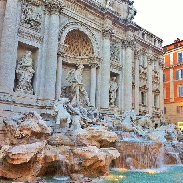 Trevi Fountain in Rome.... how many wishes did I make? Just one. He knows what it was...., then walked over to the Spanish Steps