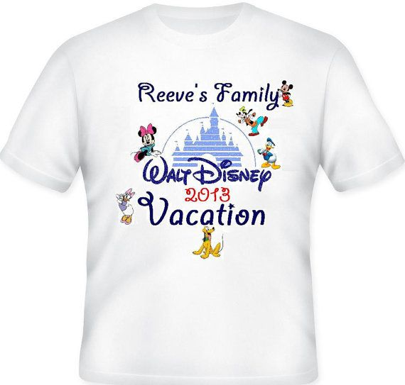 Custom Disney Family Vacation With Last Name Tshirt By