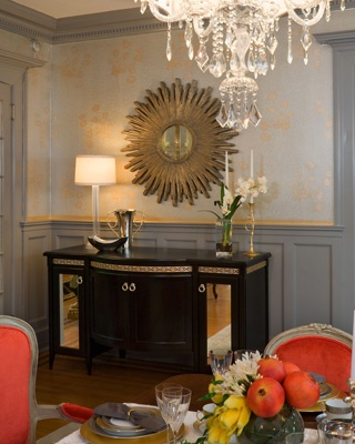 2010 Richmond Designer Show House.  I designed this buffet and had it custom built for this project.