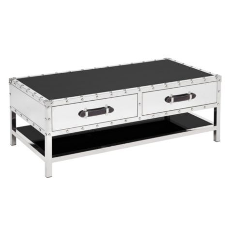 Z Gallerie   Flight Coffee Table Polished Stainless Steel Framing And Black  Glass Gives Our Flight Occasional Tables A Streamlined Appearance With A  Touch ...