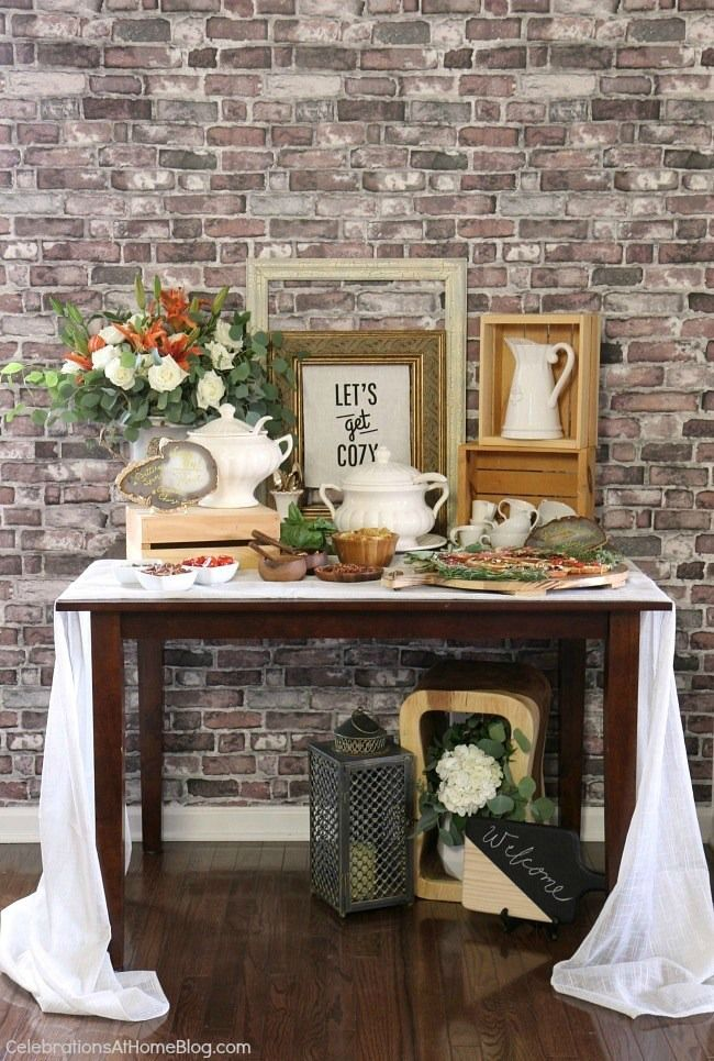 Set up a soup bar with grilled cheese tartines for a casual luncheon or a shower celebration. Get some great ideas here.
