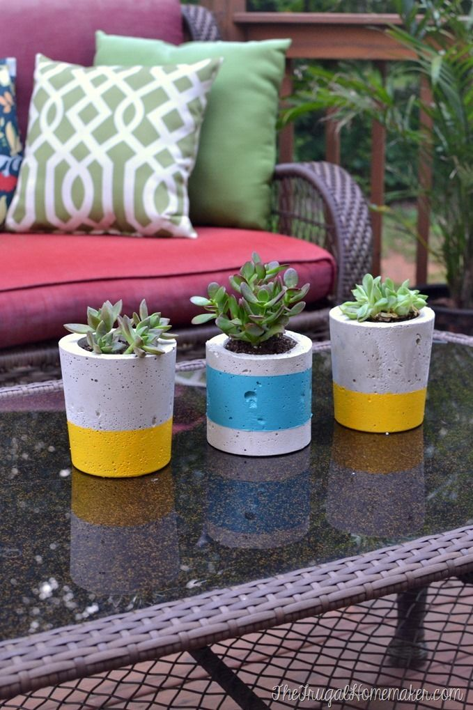 43 best diy concrete projects images on pinterest concrete diy painted concrete planters solutioingenieria