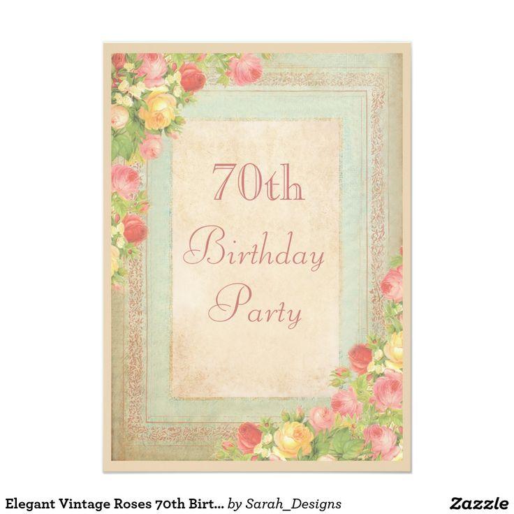70.a fiesta de cumpleaños de los rosas elegantes
