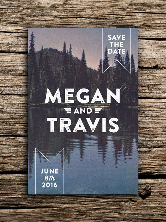 Pine Mountain Vintage Postcard Save the Date // by factorymade