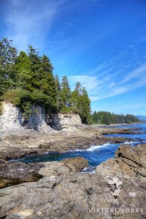 Rich tide pools, a shoreline full of life and fantastic geological features impress visitors to Botanical Beach Provincial Park.