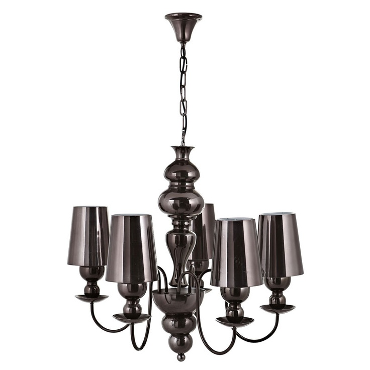 Looking for that statement classic lighting feature, simply add this deep bronze Sansouci 5 light chandelier to your room!