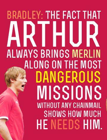 Bradley James on Merlin