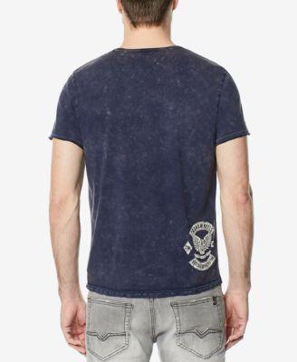 Buffalo David Bitton Men's Tucam Midnight Graphic-Print T-Shirt - Blue XL