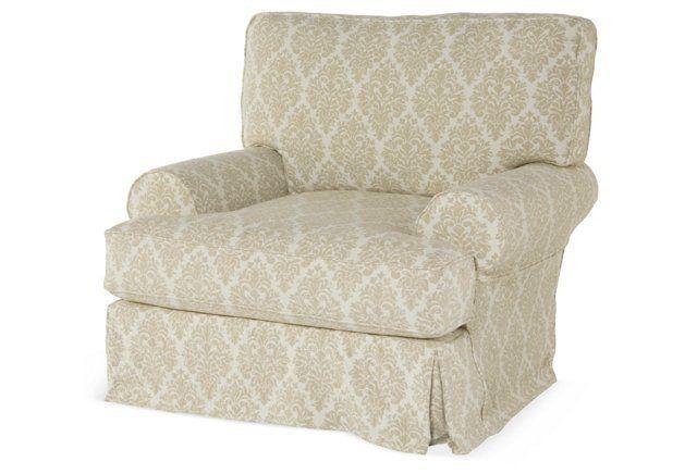 Comfy Swivel Club Chair, Natural