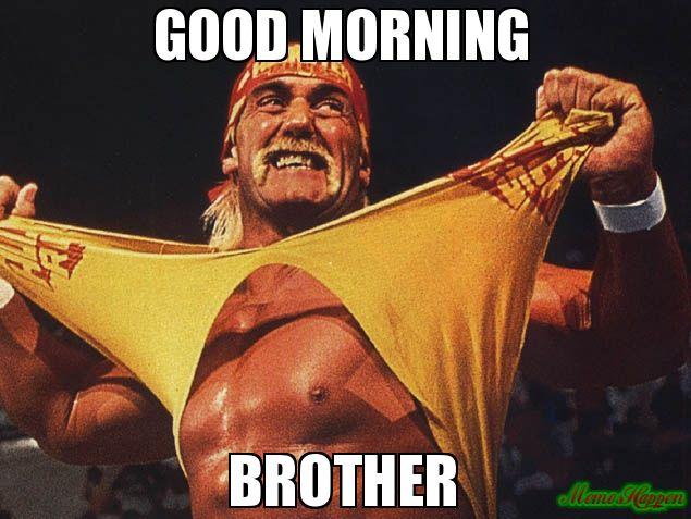 Good Morning Brother Hulk Hogan Hulk Hogan Hulk Hulk Hogan