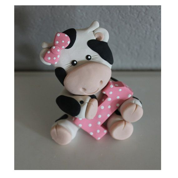 Torta de vaca personalizadas para cumpleaños o Baby Shower