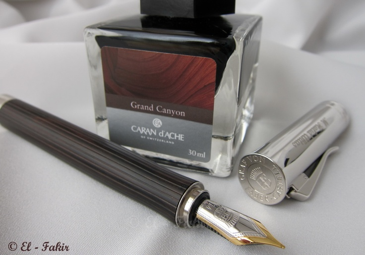 graf von faber castell intuition platino grenadilla w caran d 39 ache grand canyon fountain pen. Black Bedroom Furniture Sets. Home Design Ideas