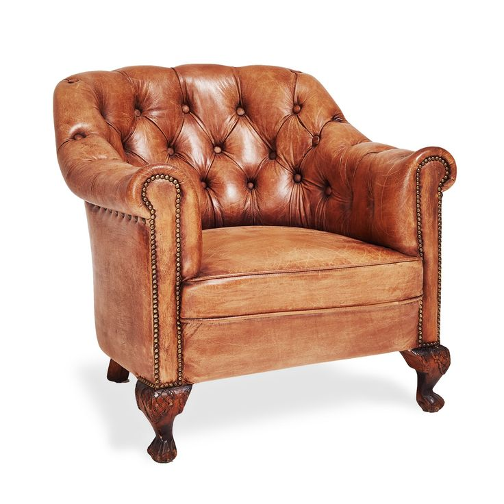 Ralph Lauren Home Tufted Leather Club Chair. This is my new chair, with the ottoman. You melt in it!