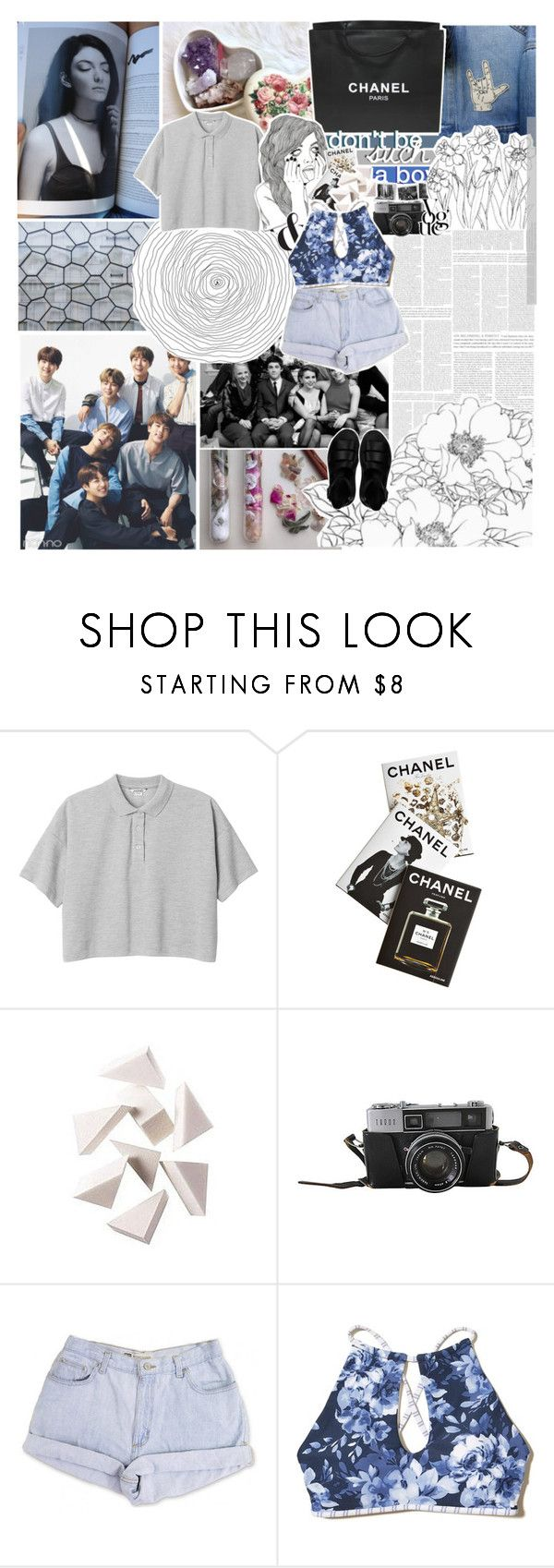 """""""THEN WE MAKEOUT, YOU FREAK OUT"""" by unkingly ❤ liked on Polyvore featuring Monki, Chanel, Assouline Publishing, Bobbi Brown Cosmetics, Hollister Co. and Dr. Martens"""