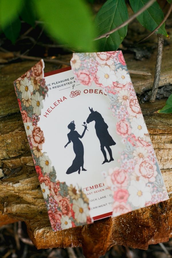 Midsummer Night's Dream inspired invitations from Southern Fried Paper // photo by Apryl Ann