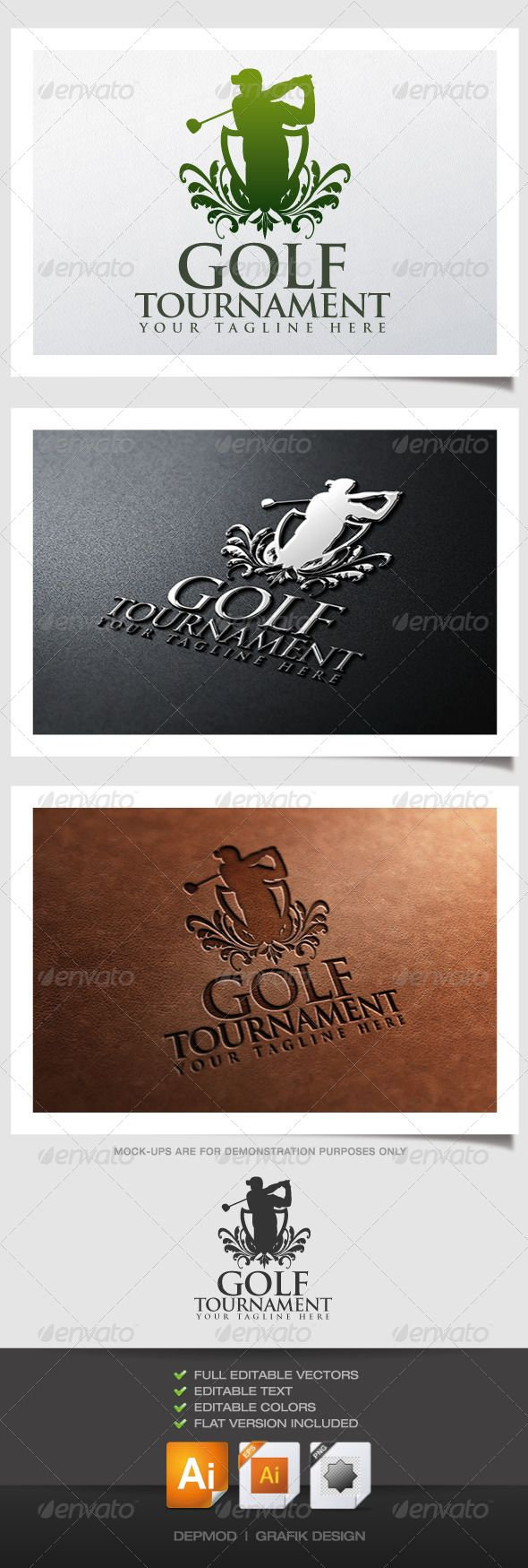 Golf Tournament Crest Logo Pet shop logo, Shop logo