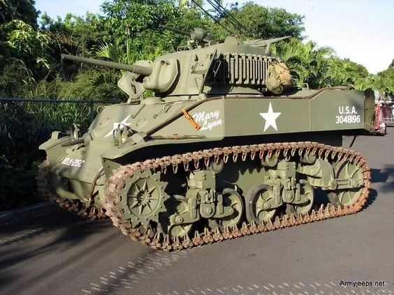 Photo: 1944 M5A1 Stuart Light Tank