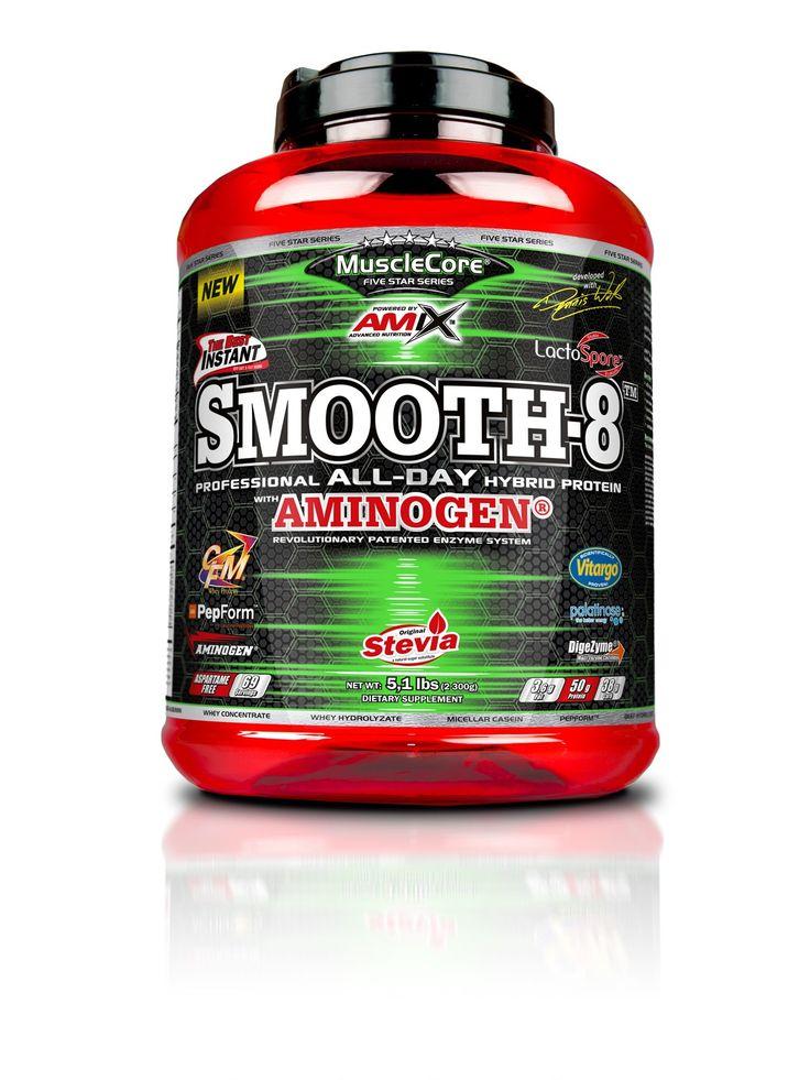 AMIX™ Smooth-8™ Protein je směs proteinů, získaná z 8 zdrojů bílkovin pro udržení a nárůst svalové hmoty, doplněná komplexem trávicích enzymů DigeZyme®.