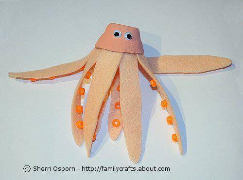 Egg Carton Octopus  #beach craft  #egg carton craft  #recycled craft