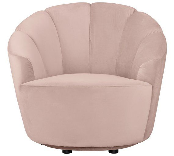 Excellent Buy Argos Home Ezra Velvet Swivel Chair Blush Pink Gmtry Best Dining Table And Chair Ideas Images Gmtryco