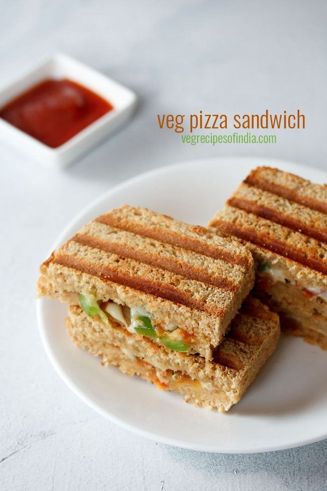 veg pizza sandwich recipe with step by step photos. these veg pizza sandwiches are grilled sandwiches. you can also make toast sandwiches.