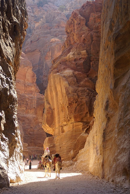Petra (Arabic: البتراء, Al-Batrāʾ, Ancient Greek Πέτρα) is a historical and archaeological city in the southern Jordanian governorate of Ma'an