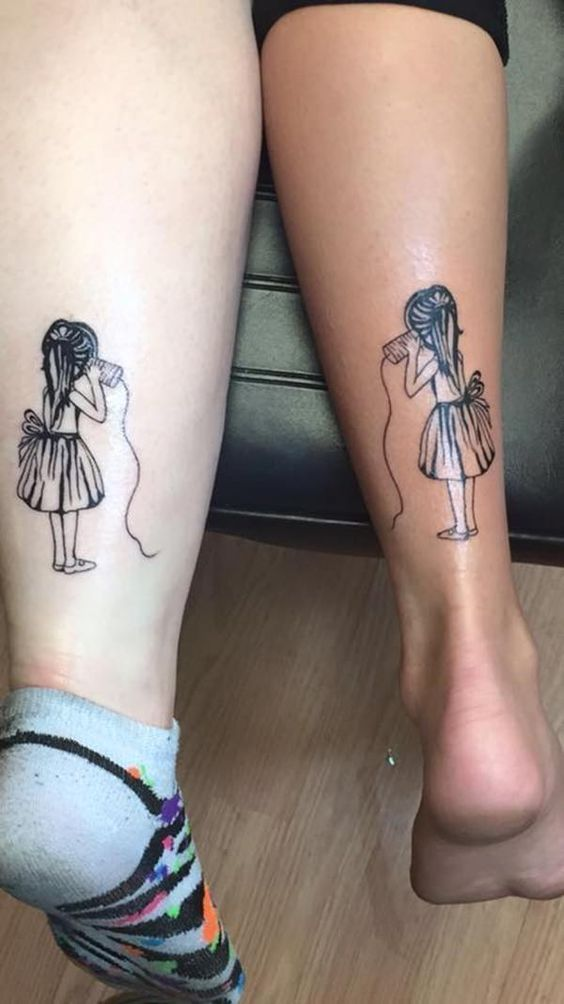 Friend Tattoos – Best Friend Tattoos: 110 super cute designs for BFFs – #tattoo ideas