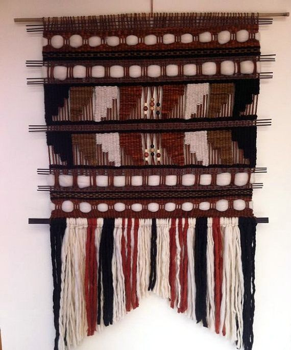 Hand Made Woven Wall Hanging by WovenHomeArt on Etsy, $400.00