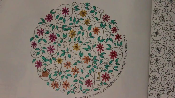 Coloring With Gel Pens Secret Garden Book
