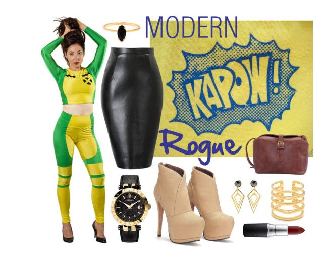 Modern Rogue by nosodacosplay on Polyvore featuring polyvore, fashion, style, Versace, Stella & Dot, Bing Bang, Sarah Magid, MAC Cosmetics and modern