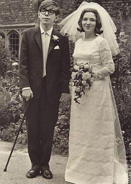 Stephen Hawking, Wife Jane Wilde, Look Lovely On Their Wedding Day In 1965.