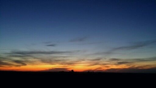 Sunset in the Free State during winter