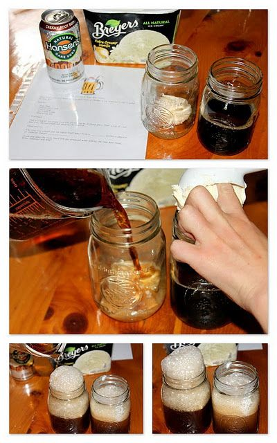 root beer float: solids, liquids, and gases - I bet we will use this for a science experiment one day!