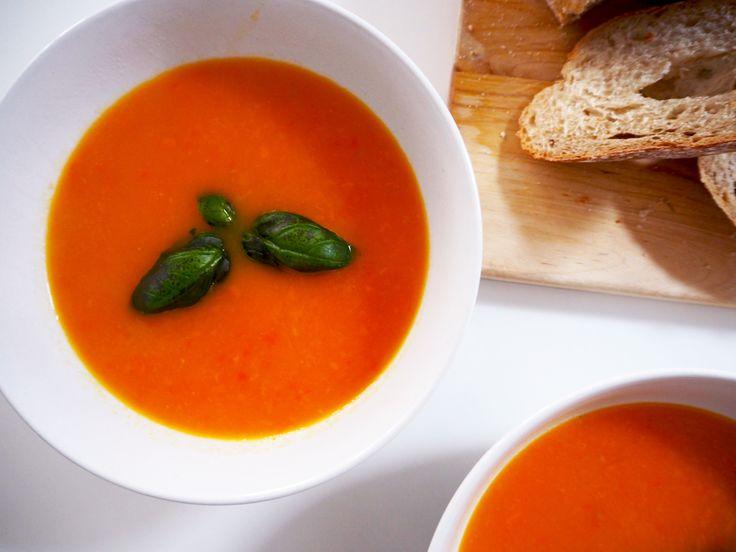 vegan tomaten- paprikasoep -MEATLESS MONDAY